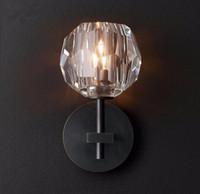 appliques murales cristaux modernes achat en gros de-2019 Moderne RH K9 Cristal Led Applique Lumière Pour Chambre Décor À La Maison Applique De Chevet Lampe Luminaire Miroir Appareils D'éclairage