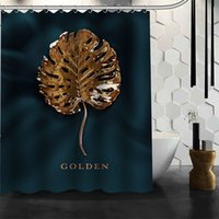 Wholesale beautiful shower curtains resale online - Custom Beautiful leaves Waterproof Shower Bath Curtain Printed Bathroom Decor Various Sizes
