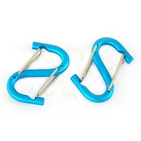 Wholesale key shaped for sale - Group buy Multifunction Mountaineering Key Chain Aluminum Alloy S Shape Water Bottle Buckle Outdoors Gadgets For Camping Equipments kp E1