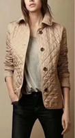 jaqueta superior venda por atacado-Clássico quente! Moda feminina Inglaterra curto estilo fina de algodão acolchoado jaqueta / top quality design de marca mulheres jaquetas M-XXXL, frete grátis