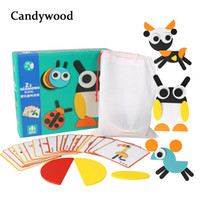 Wholesale montessori wooden puzzle for sale - Group buy Kids Wooden Games Montessori Cartoon Funny Jigsaw Puzzle Educational Children Learning Developing Toys For Boys Q190530