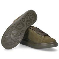 terciopelo verde mujer al por mayor-Zapatos de diseño de lujo de moda Velvet Army Green Nuevo estilo Hombres Mujeres Chaussures Plataforma de zapatos Diseñadores Zapatillas de deporte