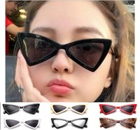 Wholesale cat eye sunglasses prices resale online - Factory Price Sexy Cat Eye Sunglasses Triangle Leopard Frame Various Colors Optional Plastic Glasses women sunglass for sunglases