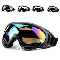 Wholesale snowmobile eyewear resale online - Winter Snow Sports Skiing Snowboard Snowmobile Anti fog Goggles Windproof Dustproof Glasses UV400 Skate Ski Sunglasses Eyewear