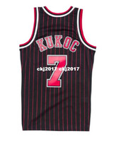 3858bbc548a NCAA Cheap TONI KUKOC  7 Pinstripe HARDWOOD CLASSIC Throwbacks Jersey Retro  Mens XS-6XL Stitched basketball jerseys