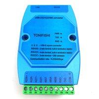 ingrosso modulo rs232 usb-Freeshipping Industrial grado USB-RS485 USB-RS422 USB-RS232 modulo di conversione isolato conversione bidirezionale USB turn multipli 232/422/48
