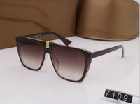 designer-sonnenbrille perlen großhandel-New Designer-Sonnenbrille 7109 Sonnenbrille für Frauen Männer Sonnenbrille Frauen Markendesigner Beschichtung UV-Schutz Perle Nieten Mode Sonnenbrille