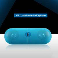 bluetooth pastilla libre de dhl al por mayor-Pill XL Bluetooth Mini altavoz Protable inalámbrico Estéreo Música Caja de sonido Audio Super Bass U Disco TF Ranura con mango DHL GRATIS