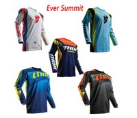 Wholesale jersey thor for sale - Group buy Cycling clothing jersey THOR downhill summer cycling men s long sleeved racing cross country mountain biking Cross country shirt