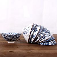 accesorios azules de china al por mayor-2019 venta caliente azul y blanco taza de té de porcelana 1 unids, Kung Fu Teacup, tazas de té de cerámica del patrón del estilo chino, accesorios del juego de té