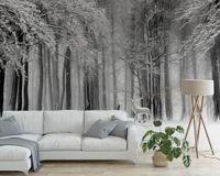 3d wald wallpaper großhandel-[Selbstklebend] 3D Forest 17604 Wall Paper Fototapete Wall Print Decal Murals