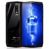 камера черного цвета оптовых-Смартфон Blackview P10000 Pro 4 камеры 11000mAh аккумулятор 4G Мобильный телефон 5.99