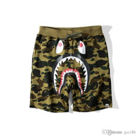 weiße baggy hose groihandel-New Ape Pants Herrenbekleidung Camouflage Cartoon Justin Bieber Freizeithosen Off Teenage Baggy Shorts und Hosen White Fear of God Chea