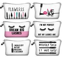 ruj torbaları toptan satış-Dijital Gelin Makyaj Çantaları Kız Gelinler Mektupları Tuvalet Çanta Ruj Kirpikleri Kozmetik Çanta Makyaj Kılıfı Hediye Çanta