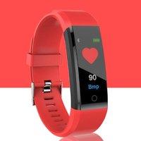 telefon parçaları toptan satış-Akıllı bilezik 115 Artı akıllı kalp hızı izleme spor spor bilezik izci renkli ekran kan basıncı nabız izleme