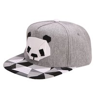 Wholesale panda hat men resale online - 6 Style Panda Adjustable Unisex Hip Hop Bboy Baseball Hat Snapback Cap Men Women Outdoors Beach Caps