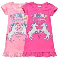 Wholesale nightgowns for kids for sale - Group buy Unicorn Medium Length Skirt for Girls T Baby Kids Girls Dress Unicorn Cartoon Nightgown Dress Color for Children Newest