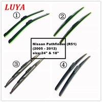 nissan klinge groihandel-Luya Vier Arten von Wischerblatt in Auto Scheibenwischer für Nissan Pathfinder (R51) (2005 - 2012) Größe: 24