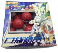 anime fee figur großhandel-Heißer verkauf 36 Teile / los ABS klassische Action Anime Figuren Kwaran bälle / PokeBall Fairy Ball Super Ball Master Ball Kinder Spielzeug Geschenk OTH803