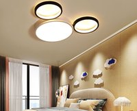 Wholesale colorful modern bedding for sale - Group buy New Modern LED Ceiling Lights Lamps For Bedroom Iron Kitchen Luminaire Colorful Rooms lights with remote control children room MYY