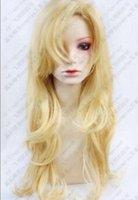 pelucas rubias onduladas al por mayor-Peluca envío gratis HOT ~ IB Mary rubio ondulado largo Cosplay fiesta moda peluca 80 cm