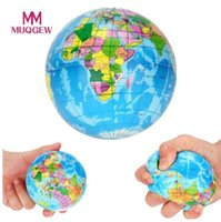 ingrosso giocattolo della sfera della terra-New Sforzo Decorazione Mappa del Mondo Sfera di Schiuma Atlas Palm Pianeta Terra Palla spremere giocattolo squishy giocattoli antistress per i bambini # N30