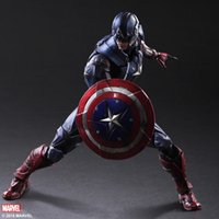 Wholesale art toys for sale - Group buy Play Arts Kai Marvel Universe Variant Captain America Steve Rogers Action Figure Superhero Model Toy