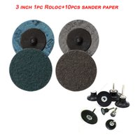 Wholesale shaft adapter resale online - 3 quot mm Back up Pad for Roloc Sanding Disc Air Grinder mm Adapter Thread Bolt Shaft Changeable Rubber Pad Sponger Paper