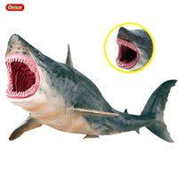 Wholesale educational monkey toys resale online - Oenux Sea Life Marine Animals Whale Shark Megalodon Model Action Figure PVC Ocean Animal Educational Learning Toy For Kid Gift SH190911