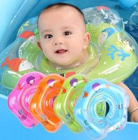 Wholesale inflatable rings for baby swimming resale online - Swimming Baby Accessories Neck Ring Tube Safety Baby Float Circle for Bathing Inflatable Cartoon Inflatable Water Dropshoping