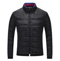 ropa de mejor calidad al por mayor-Mejor fashion19 para hombre ropa de manga larga chaqueta abajo chaqueta de alta calidad de los hombres de moda simple tendencia M-3XL