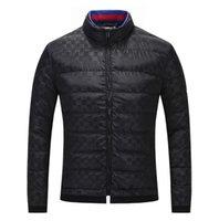 ingrosso migliori giacche di moda-Miglior moda giacca uomo mens giacca lunga piumino da uomo di alta qualità semplice tendenza moda M-3XL