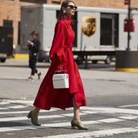 saia de casaco vermelho venda por atacado-Designer de Mulheres Saia Longa Trincheira Cinto Largo Borla Magro Elegante Trabalho de Negócios Trench Coat Outono Lanterna Vermelha Manga Casaco Casuais