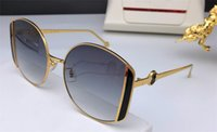 Wholesale new popular sunglasses resale online - New fashion designer women sunglasses roud frame simple popular style uv400 protection eyewear top quality with box