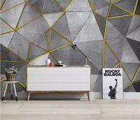 Wholesale wallpaper minimalist modern for sale - Group buy Custom Nordic Modern Minimalist papel de parede Wall paper Personality Geometrical Mural TV Background d wallpaper