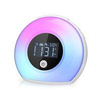 altavoces de música al por mayor-JEYL Wake Up Light Altavoz Bluetooth, Lámpara de escritorio Reloj despertador, Luz de noche Bluetooth Altavoz, Música de color ajustable