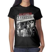 ingrosso camicie da aereo-The Led Zeppelin Airplane The Starship Womens T Shirt black T-shirt Custom T Shirts Vintage T Shirts Pazzo camicia personalizzata nera
