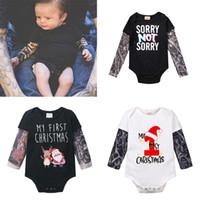 yeni moda için dövme toptan satış-9 Stil Moda Bebek Bebek Boys kızlar INS Dövme kollu Romper Çocuk Yeni Noel Uzun Kollu Dövme Romper çocuk giysileri B1 yazdır