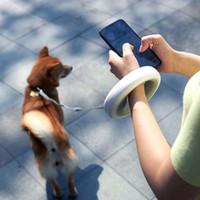 köpek kurşun halat kemeri yol açtı toptan satış-Pet Otomatik Çekiş Halat Köpek Tasmaları Halka Kolu, Çift Katmanlı Elastik Kemer Köpek Tasması LED Aydınlatma Ile Açar