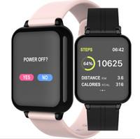 Wholesale windows gps resale online - Fashion B57 color screen smart watch heart rate blood pressure oximeter step call reminder Bluetooth waterproof sports bracelet