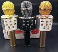 mini kablosuz bluetooth mikrofonu toptan satış-Ev KTV Yüksek Hassasiyet için WS858 USB Handheld Taşınabilir Bluetooth Mini Kablosuz Karaoke Mikrofon