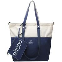 estilo coreano grandes bolsas casuais venda por atacado-Moda Feminina Bolsa de Ombro Lona Estilo Coreano Bolsa Feminina Totes Casual Grande Capacidade Crossbody Bolsa de Ombro