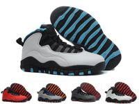 ingrosso scarpe da ginnastica fresche-Alta qualità Bambini 10 10S Westbrook Rosso Blu Bianco Nero per bambini Scarpe da basket Polvere blu Cool Sneakers in acciaio grigio ragazzo ragazza