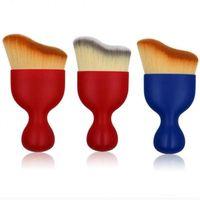 Wholesale arc plastics resale online - Nylon Foundation Makeup Brush Wavy Arc Shape Brush Contour Shadow Cosmetics Brushes Blush Powder Brush Makeup Tool