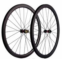 12 inçlik bisiklet jantları toptan satış-700C Yol bisikleti karbon fiber tekerlek seti 30 40 45 50 55C derinlik 25mm yol disk fren sürüm 411/412 hub, dört-in-one açılış