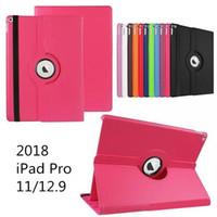 lenovo için vaka örtüsü toptan satış-360 Derece Dönen Çevirme PU Deri Akıllı Kapak Standı Manyetik Kılıf Apple iPad Için Pro 12.9 inç 2 3 4 5 6 9.7 inç Mini Mini4