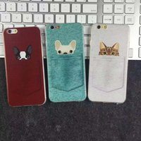 Wholesale rubber cat phone case for sale – best Cute Cartoon Pocket Dog and Cat Protector Shockproof Silicone Rubber Soft TPU Embossed Phone Case Cover For iPhone S Plus X XS MAX XR