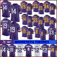 ingrosso maglia 82-14 Stefon Diggs 19 Adam Thielen Minnesota Maglie Vichinghi 8 Kirk Cousins 84 Randy Moss 55 Anthony Barr 82 Kyle Rudolph Stitched Jersey