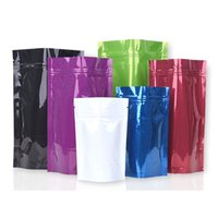 Wholesale heat sealable fabrics resale online - Colorful Food Powder Storage Bag Heat Sealable Stand Up Pouch Aluminum Foil Self sealing Plastic Bag LX2358