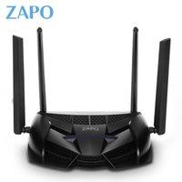roteador ac venda por atacado-Gaming ZAPO Router 2.4G / 5 GHz Chip de Topo AC 2600 Mbps Roteador Wi-fi Sem Fio 16 MB Flash de Alto Ganho Antenas USB Repetidor de Armazenamento de Longa Distância BA